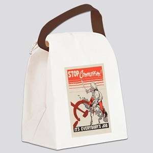Vintage poster - Stop Communism Canvas Lunch Bag
