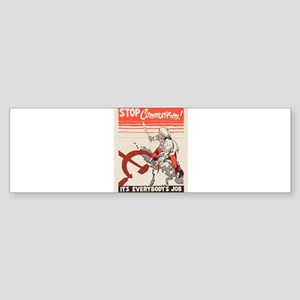 Vintage poster - Stop Communism Bumper Sticker