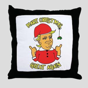 Make Christmas Great Again Throw Pillow