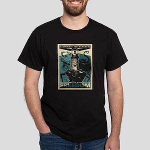 Vintage poster - Illuminate the darkness T-Shirt
