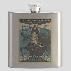 Vintage poster - Illuminate the darkness Flask