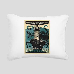 Vintage poster - Illumin Rectangular Canvas Pillow