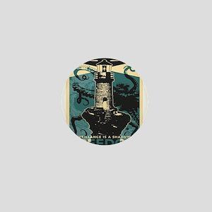 Vintage poster - Illuminate the darkne Mini Button