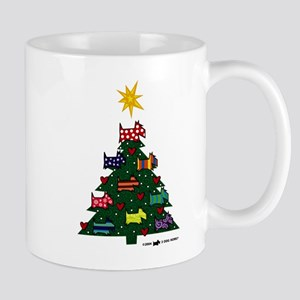 SCOTTISH TERRIER CHRISTMAS TREE Mugs