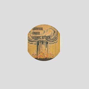 Vintage poster - Survival under atomic Mini Button