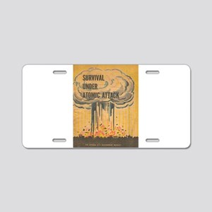 Vintage poster - Survival u Aluminum License Plate