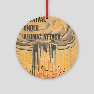 Vintage poster - Survival under ato Round Ornament