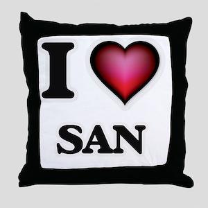 I love San Throw Pillow