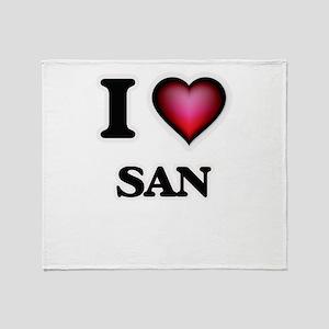 I love San Throw Blanket