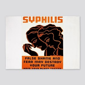 Vintage poster - Syphilis 5'x7'Area Rug