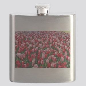 Red and Pink Tulips of Keukenhof Lisse Holla Flask