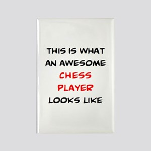 awesome chess player Rectangle Magnet