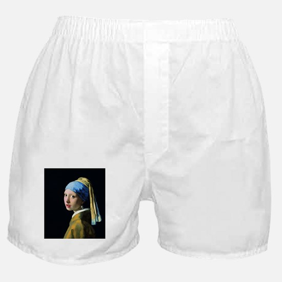 Jan Vermeer Girl With A Pearl Earring Boxer Shorts
