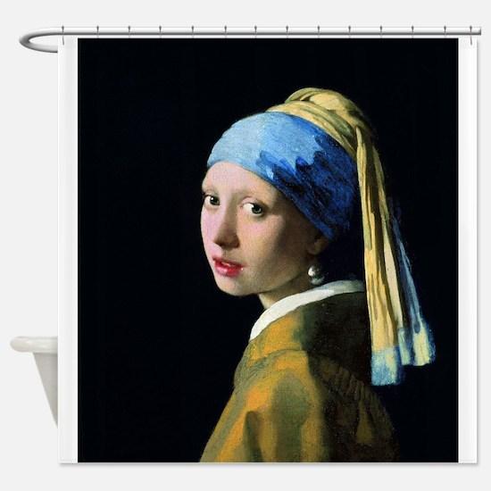 Jan Vermeer Girl With A Pearl Earri Shower Curtain
