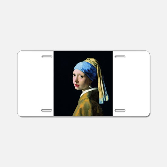 Jan Vermeer Girl With A Pea Aluminum License Plate