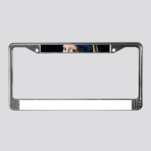 Jan Vermeer Girl With A Pearl License Plate Frame