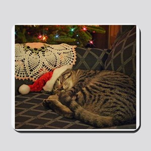 Santa Daisy the cat Mousepad