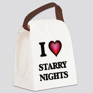 I love Starry Nights Canvas Lunch Bag
