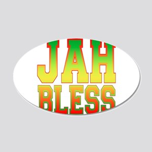 Jah Bless.png 20x12 Oval Wall Decal