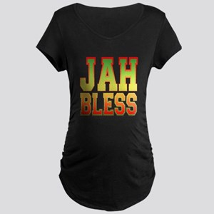Jah Bless Maternity Dark T-Shirt