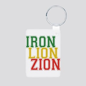 Iron Lion Zion Aluminum Photo Keychain