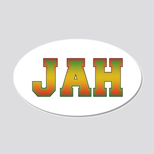 Jah.png 20x12 Oval Wall Decal