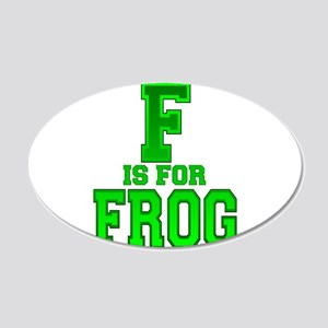 F is for Frog 20x12 Oval Wall Decal