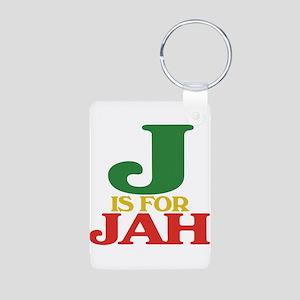 J is for Jah Aluminum Photo Keychain