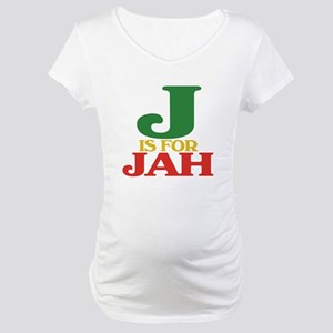 J is for Jah.png Maternity T-Shirt