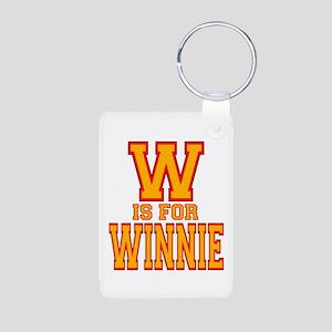 W is for Winnie Aluminum Photo Keychain