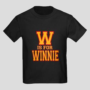 W is for Winnie Kids Dark T-Shirt
