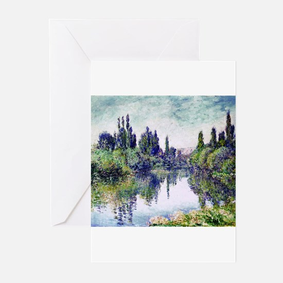 Morning on the Seine, near Vetheuil Greeting Cards