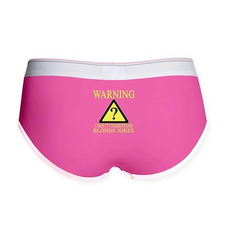 Officer Warning Blonde Jokes Womens Boy Brief Pinterest Blonde Jokes Underwear Panties Cafepress