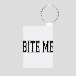 Bite Me Aluminum Photo Keychain