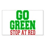 Go Green, Stop at Red.png Sticker (Rectangle 50 pk
