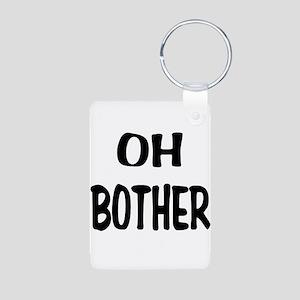 Oh Bother Aluminum Photo Keychain