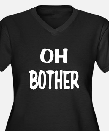 Oh Bother.png Women's Plus Size V-Neck Dark T-Shir