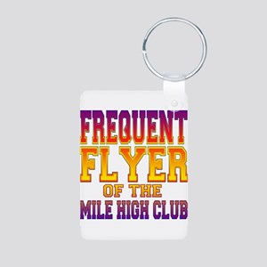 Frequent Flyer Aluminum Photo Keychain