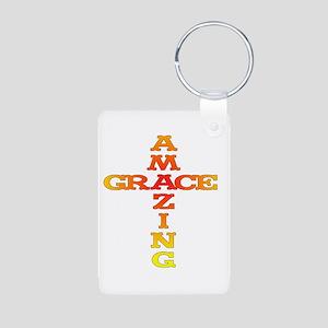 3-Amazing grace Aluminum Photo Keychain