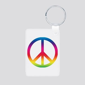 Peace sign Aluminum Photo Keychain
