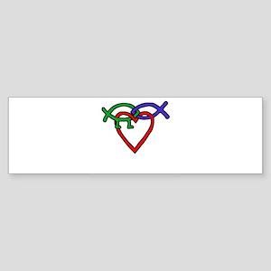 Interlocking creation Sticker (Bumper)
