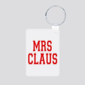 Mrs. Claus Aluminum Photo Keychain