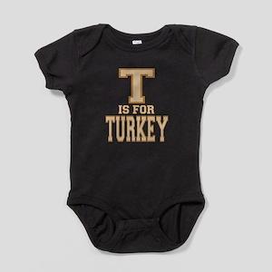 T is for Turkey Baby Bodysuit