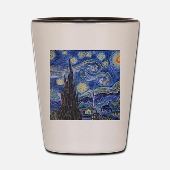 Cute Starry night Shot Glass