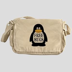 Free Hugs Penguin Messenger Bag