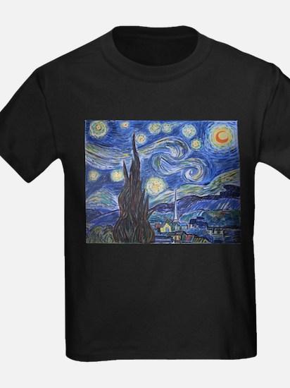 Starry Night, van Gogh art reproduction, a T-Shirt