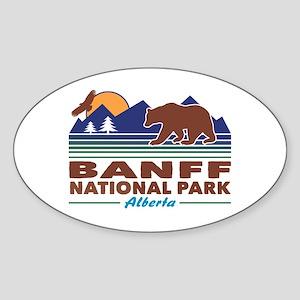 Banff National Park Alberta Sticker (Oval)
