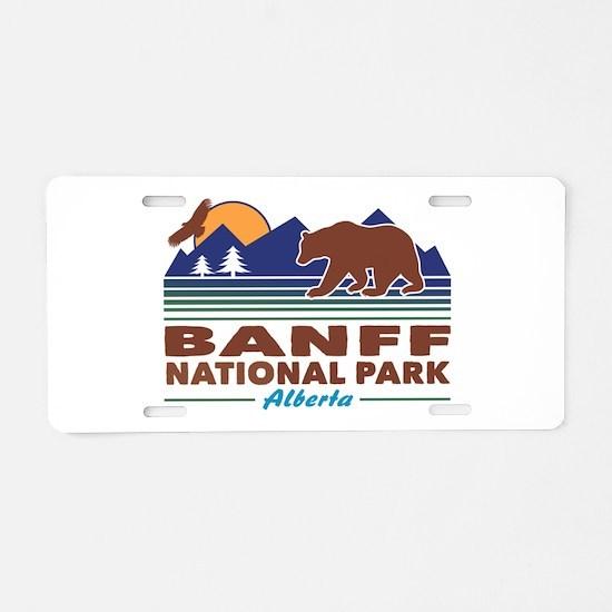 Banff National Park Alberta Aluminum License Plate