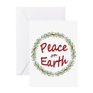 peace on earth greeting cards cafepress - Peace On Earth Christmas Cards