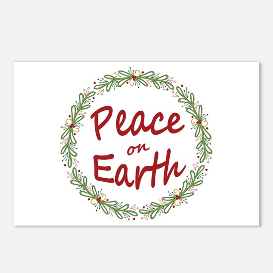 Christmas Peace on Earth Wreath Postcards (Package